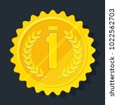 gold medal for the first place. ... | Shutterstock .eps vector #1022562703