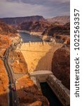 Small photo of Hoover Dam. Dam in the Clark County, Nevada. USA.