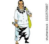 thailand shaman costume | Shutterstock .eps vector #1022570887