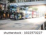 electric tram hongkong china 12 ...   Shutterstock . vector #1022573227