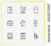 home appliances line icon set...   Shutterstock .eps vector #1022573287