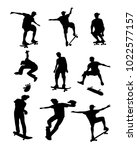 vector silhouettes of... | Shutterstock .eps vector #1022577157