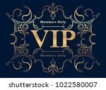 gold rich decorated vip design... | Shutterstock .eps vector #1022580007