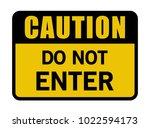caution do not enter sign | Shutterstock .eps vector #1022594173