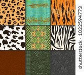 animal skins vector pattern... | Shutterstock .eps vector #1022594773