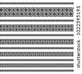 decoration patterns in black... | Shutterstock .eps vector #1022595193