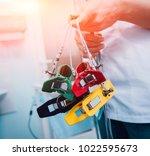 doctor with electrocardiogram...   Shutterstock . vector #1022595673