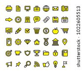 collection of yellow and black... | Shutterstock .eps vector #1022605513