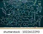 molecule models and formulas... | Shutterstock . vector #1022612293