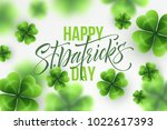 happy saint patricks day... | Shutterstock .eps vector #1022617393