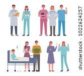 doctors who treat patients.... | Shutterstock .eps vector #1022624257
