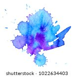 colorful abstract watercolor... | Shutterstock .eps vector #1022634403