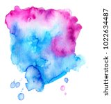 colorful abstract watercolor... | Shutterstock .eps vector #1022634487