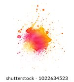 colorful abstract watercolor... | Shutterstock .eps vector #1022634523