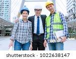 team engineer do work is sucess. | Shutterstock . vector #1022638147