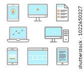 digital gadget icon smartphone  ... | Shutterstock .eps vector #1022650327