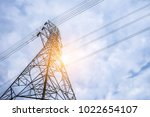electricity concept  close up... | Shutterstock . vector #1022654107