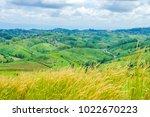 mountain view with desho grass... | Shutterstock . vector #1022670223