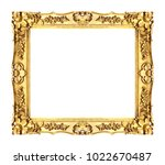 antique gold frame isolated on... | Shutterstock . vector #1022670487