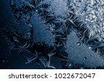 amazing frost texture on window....   Shutterstock . vector #1022672047