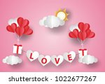 valentine's day concept.love... | Shutterstock .eps vector #1022677267