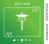 caduceus medical symbol | Shutterstock .eps vector #1022678143