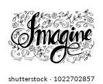 imagine hand lettering. | Shutterstock .eps vector #1022702857
