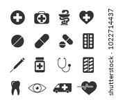 vector image set of medical... | Shutterstock .eps vector #1022714437