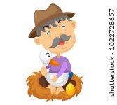 illustration of isolated goose... | Shutterstock .eps vector #1022728657