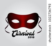 simple red carnival mask with...   Shutterstock .eps vector #1022736793