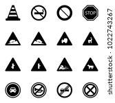 solid vector icon set   road... | Shutterstock .eps vector #1022743267