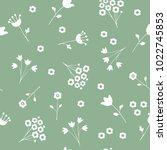 delicate seamless little... | Shutterstock .eps vector #1022745853