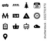 solid vector icon set   airport ... | Shutterstock .eps vector #1022751973