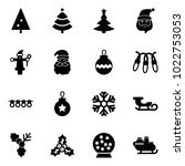 solid vector icon set  ... | Shutterstock .eps vector #1022753053