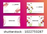 creative double sided business...   Shutterstock .eps vector #1022753287