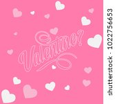 romantic happy valentine day... | Shutterstock .eps vector #1022756653
