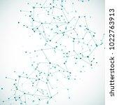 intricacy node molecular or...   Shutterstock . vector #1022763913