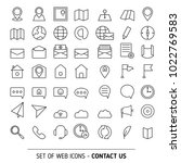 contacts icon set. media and... | Shutterstock .eps vector #1022769583