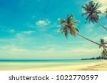 beautiful beach. view of nice...   Shutterstock . vector #1022770597