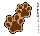dogs footprints isolated icon | Shutterstock .eps vector #1022772187