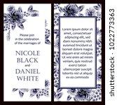 romantic invitation. wedding ... | Shutterstock . vector #1022773363