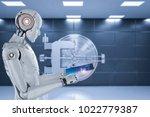 3d rendering humanoid robot... | Shutterstock . vector #1022779387