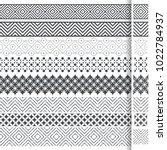 set of vector geometrical... | Shutterstock .eps vector #1022784937