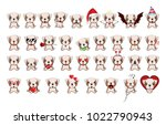bulldog    illustration.... | Shutterstock .eps vector #1022790943