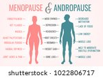 menopause and andropause. men... | Shutterstock .eps vector #1022806717