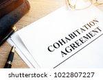 cohabitation agreement and... | Shutterstock . vector #1022807227