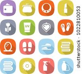 flat vector icon set   wallet... | Shutterstock .eps vector #1022810053