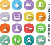 flat vector icon set   washing... | Shutterstock .eps vector #1022810143