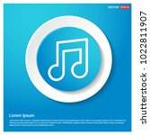music symbol icon abstract blue ...
