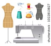 dummies for clothes and modern... | Shutterstock .eps vector #1022813827